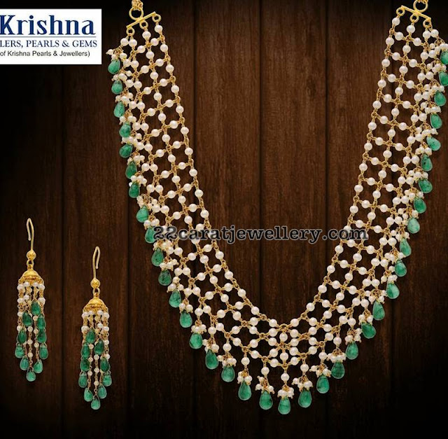 Pearls and Beads Set Krishna Jewels