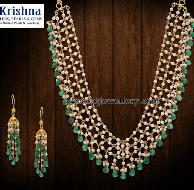Pearls and Beads Set Krishna Jewels