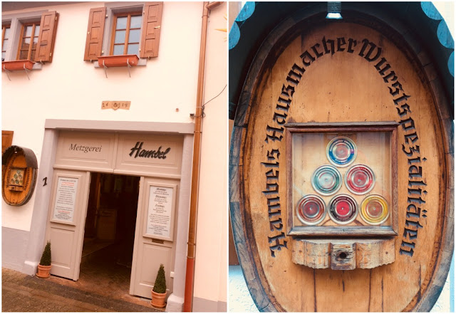 Metzgerei Hambel in Wachenheim in der Pfalz.
