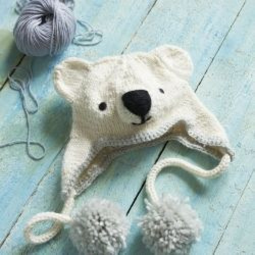 Knitted Polar Bear Hat - Free Pattern