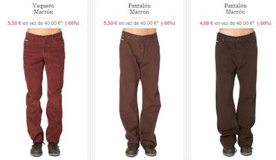 Vaqueros y pantalones para hombres