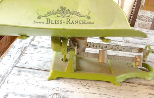 Vintage Baby Scale Updated, Bliss-Ranch.com