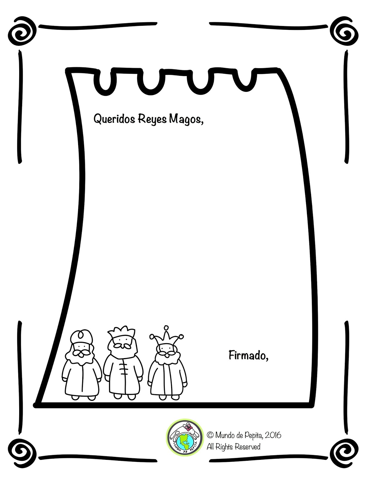 Writing a Letter to Los Tres Reyes Magos- Support your