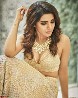 Samantha Ruth Prabhu Stunning in Brown Wedding Lehena ~  Exclusive Celebrities Galleries 003.jpg