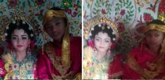 Foto Pernikahan Bocah Belia Asal Makassar Ini Jadi Viral di Medsos