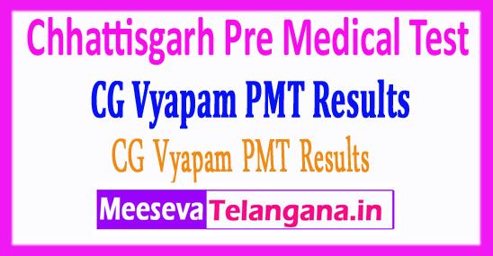 Chhattisgarh Pre Medical Test CG Vyapam PMT Results 2017