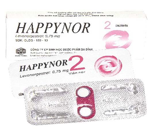 Kết quả hình ảnh cho Thuốc tránh thai Happynor 0.75 mg