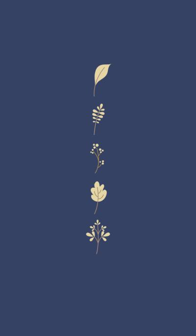 Forest Leaf - Deep Blue