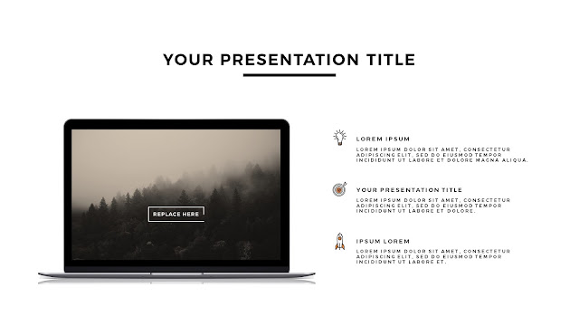 MacBook Silver Mockup Free Powerpoint Template Slide 2