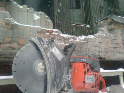 Резка и демонтаж железобетона, резка проемов в бетоне и железобетоне