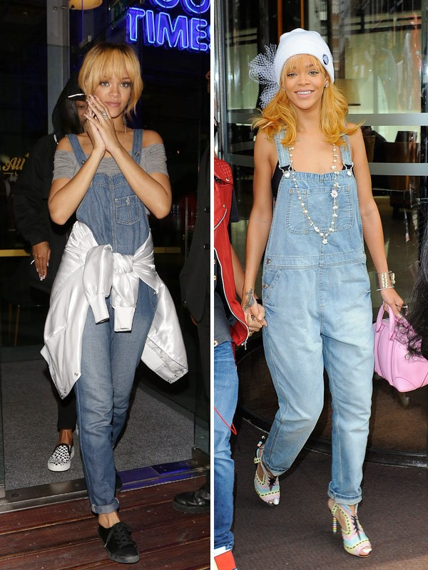 80b34898188b Rihanna for one is sold on this trend! Seen rocking her dungarees with  cropped tops on two different occasions. I agree they look best that way.