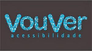 VouVer Acessibilidade (logomarca descrita abaixo