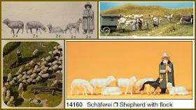 Preiser 14161 HO Schafe