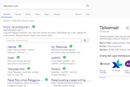 Waah hebooohhh Telkomsel di bajak sama hacker!!!!