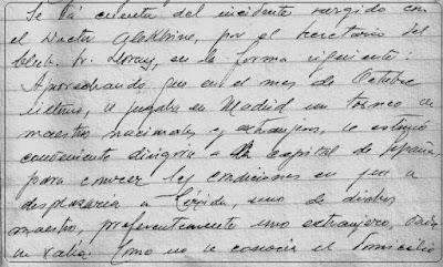 Fragmento nº 3 del Acta del Club de Ajedrez Lérida de 19 de febrero de 1944