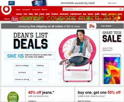 Target coupons march