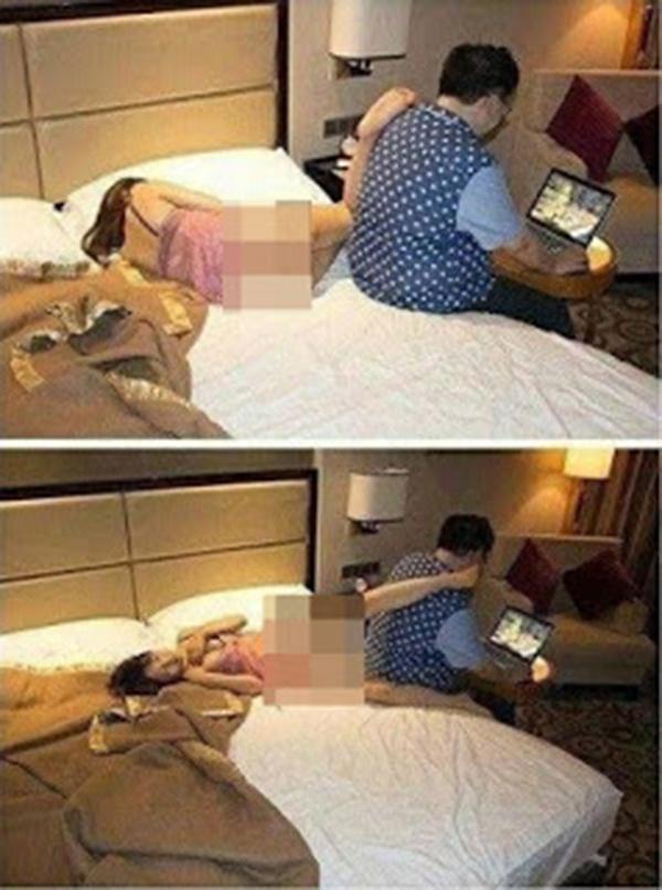 foto aksi godaan si isteri malam pertama suami