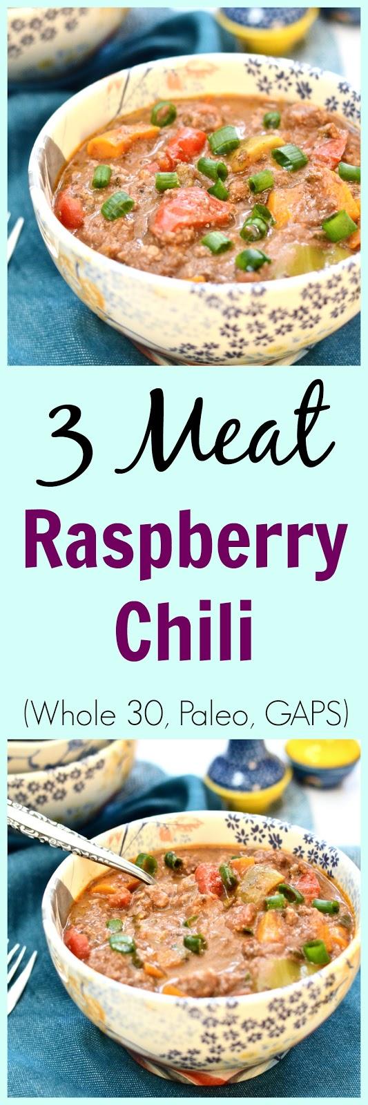 pure and simple nourishment three meat raspberry chili paleo