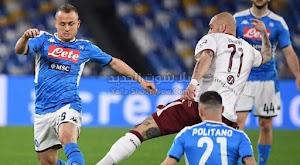 نابولي يحقق الفوز الصعب والمهم على فريق تورينو في الدوري الايطالي