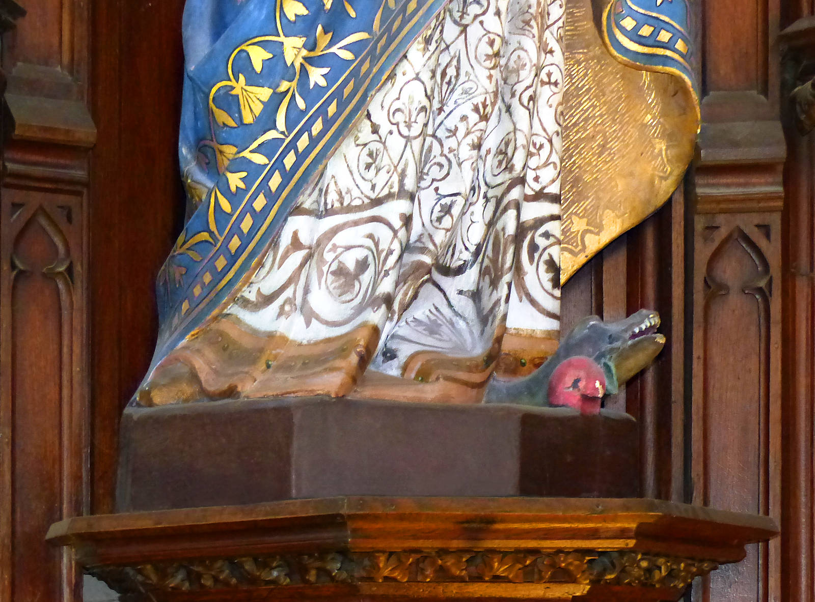 Marie, le serpent et la pomme - Hospice d'Havré, Tourcoing - Chapelle