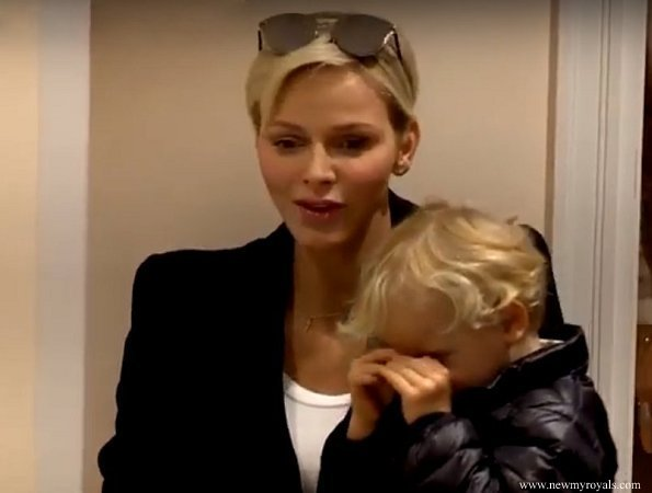 Prince Albert and Princess Charlene, their twins, Prince Jacques and Princess Gabriella visited a mini kindergarten