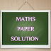 STD 10 Exam :- Mathematics Paper Part A MCQ Question Solution