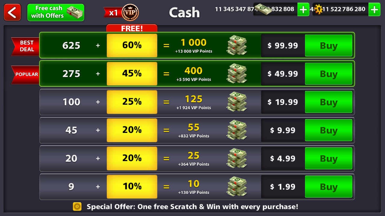 Download 8 Ball Pool Unlimited Cash (Mega MOD, Extended