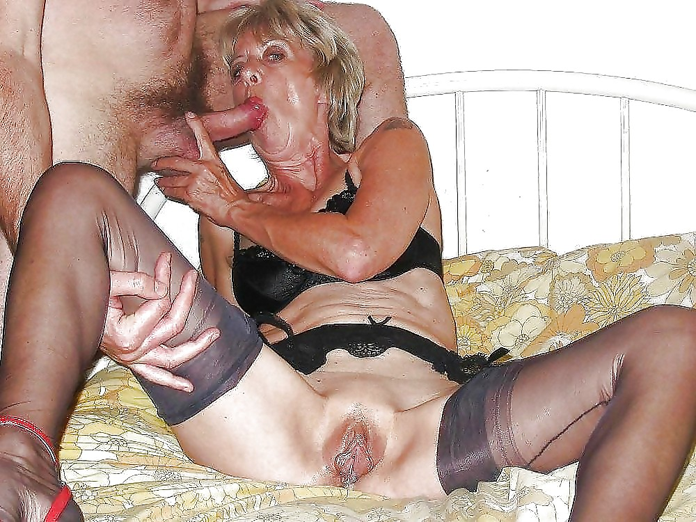 Sucking nude old cock grannies