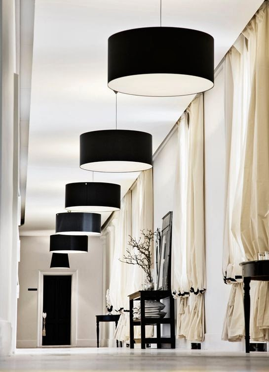 Amazing Kensington Bliss Loving The Black Lampshade With Gradation In Interior Design