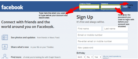 How To Reactivate Your Facebook<br/>