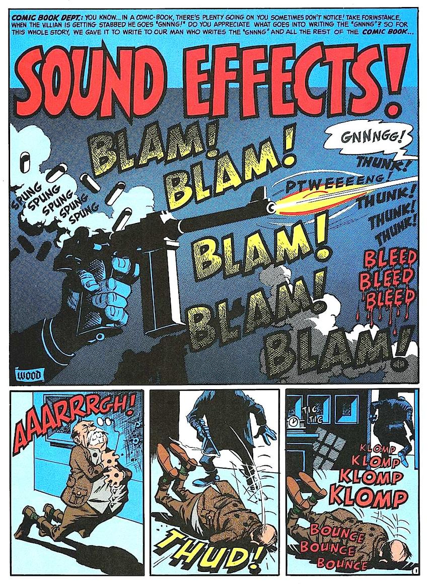 Wallace Wood sound effects for MAD