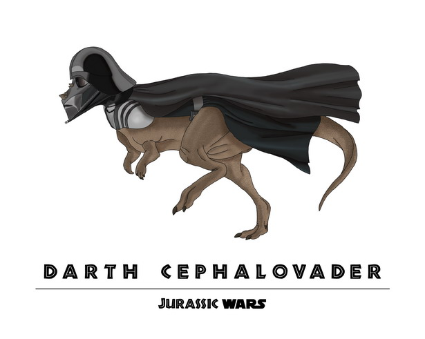 Darth Vader + Pachycephalosaurus = Darth Cephalovader