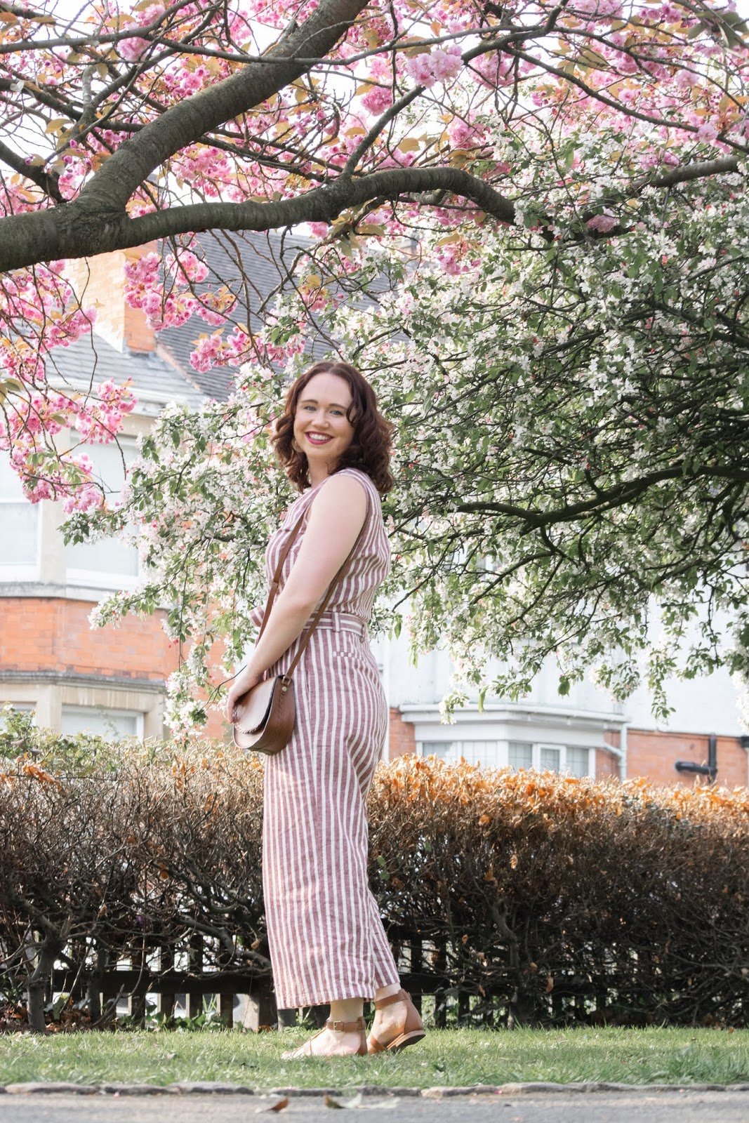 The Boden Striped Jumpsuit Call Me Liz