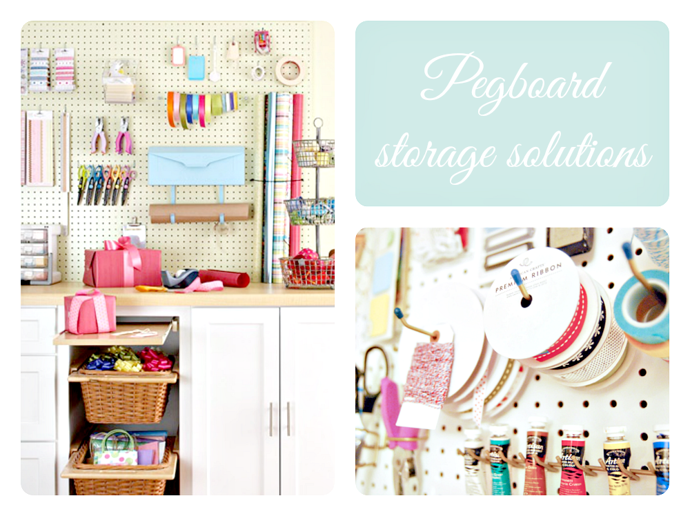 crafty room with pegboard
