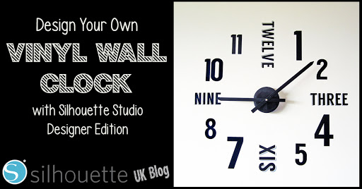 Vinyl Wall Clock Crafting Quine blog by Janet Packer #reposition #vinyl #silhouette #cameo #shadow
