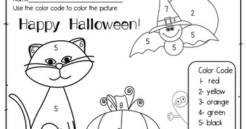 The Best Of Teacher Entrepreneurs Iii Free Math Lesson Halloween Color By Number Picture And Color Recognition Sheet