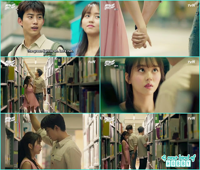 Bong pal and hyun ji at library - Let's Fight Ghost - Episode 9 Review - Korean Drama 2016