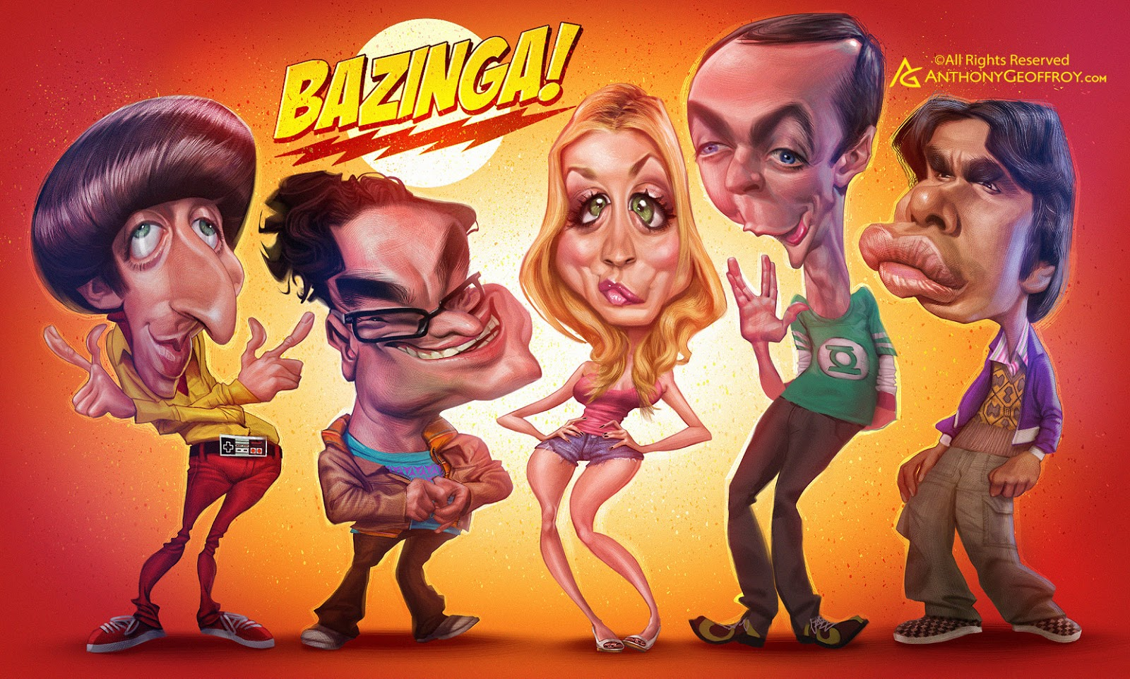 The Big Bang Theory por Anthony Geoffroy
