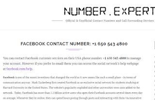 Nomor Kontak Facebook Internasional