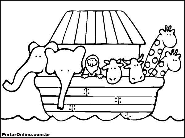 Dibujos Para Colorear Del Arca De Noe Para Imprimir: BAÚ DA WEB : Arca De Noé Desenhos Para