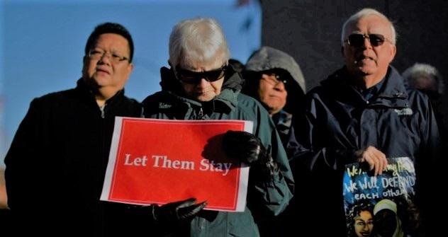 pengunjuk rasa dukung para imigran tetap tinggal di AS. ©Reuters