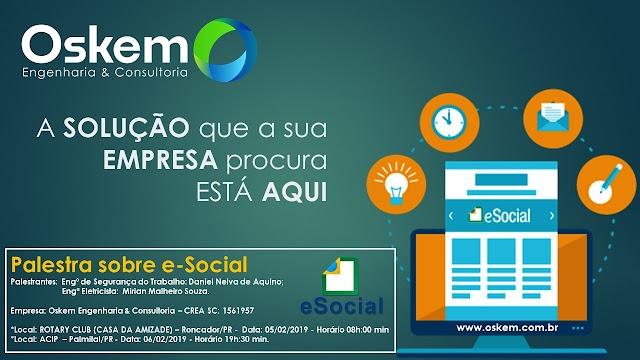 Escritório Lux em parceria com a empresa Osken promovem evento sobre o e-Social em Roncador