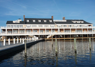 Full length view of the Bay Head Yacht Club building from the south, Bay Head, New Jersey.