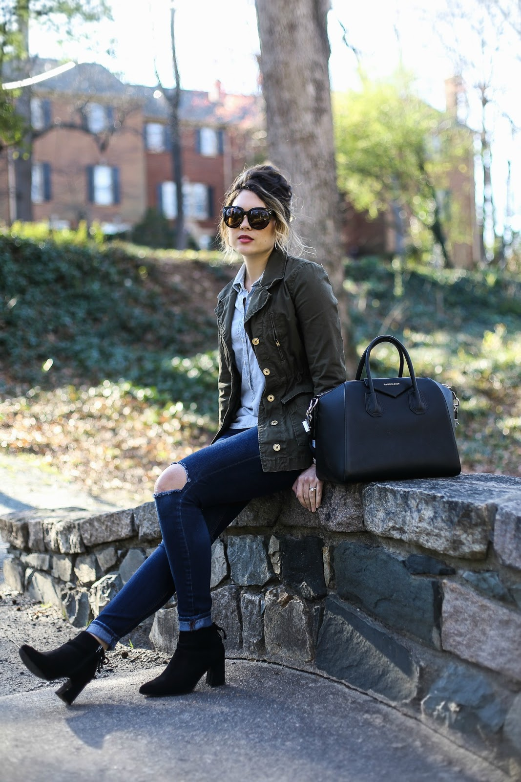nordstrom giveaway, denim on denim, celine audrey