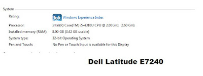 Dell Latitude E7240 features and specs