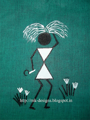 Warli Painting on kurta