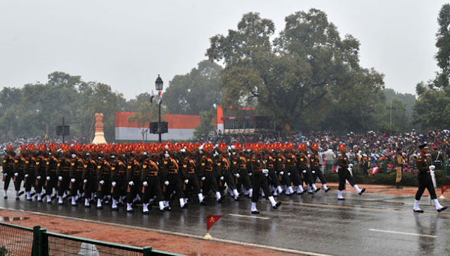 Parade by Indian Army