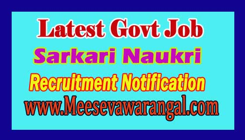 Latest Govt Job Notification Recruitment Online Apply