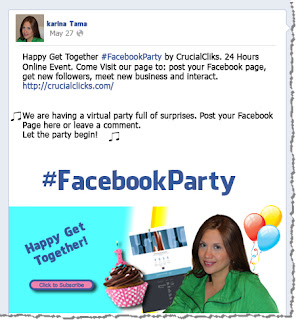 Facebook party by CrucialClicks