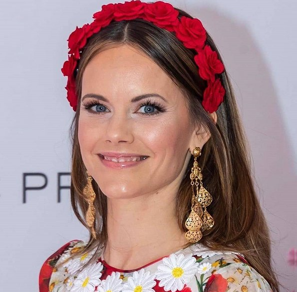 Princess Sofia wore a new silk floral maxi dress by Dolce & Gabbana, Crown Princess Victoria wore a new pink dress by Ida Sjostedt